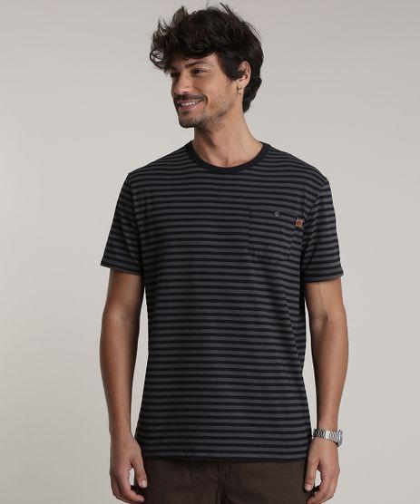Camiseta-Masculina-Listrada-com-Bolso-Manga-Curta-Gola-Careca-Chumbo-9756190-Chumbo_1