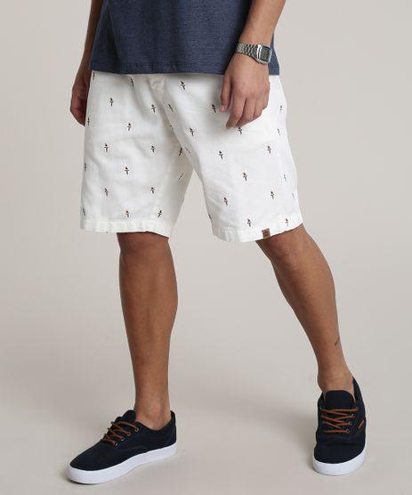 Bermuda-de-Sarja-Masculina-Slim-Estampada-de-Passaros-Off-White-9753323-Off_White_1