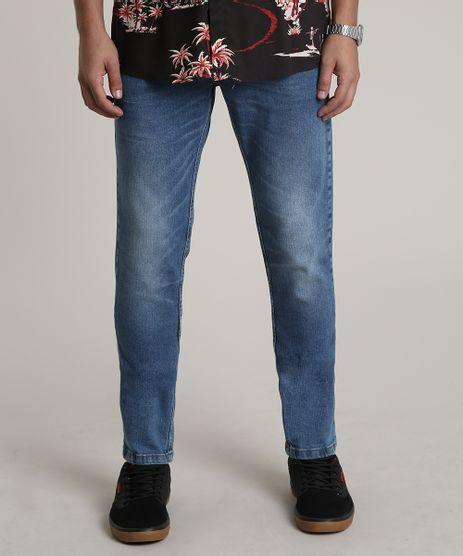 Calca-Jeans-Masculina-Slim-com-Bolsos-Azul-Medio-9748893-Azul_Medio_1