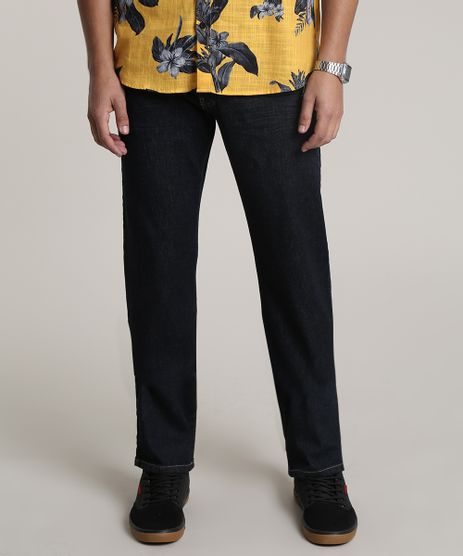 Calca-Jeans-Masculina-Reta-com-Bolsos-Azul-Escuro-9776593-Azul_Escuro_1