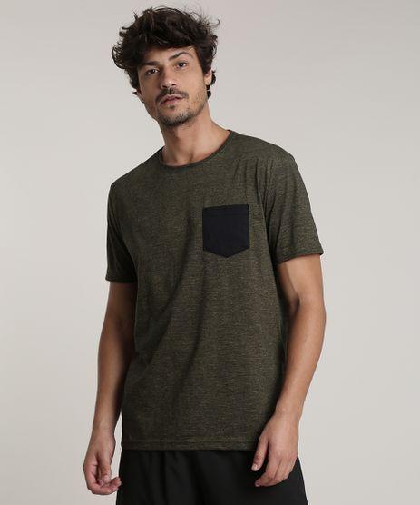 Camiseta-Masculina-Basica-com-Bolso-Manga-Curta-Gola-Careca-Verde-Militar-9726263-Verde_Militar_1