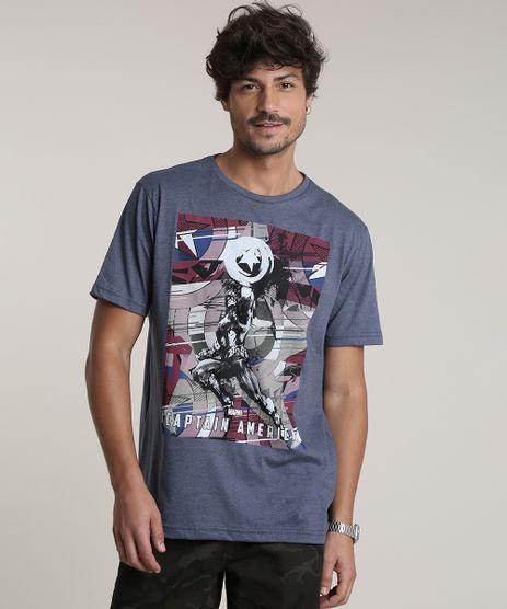 Camiseta-Masculina-Capitao-America-Manga-Curta-Gola-Careca-Azul-9754394-Azul_1