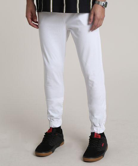 Calca-de-Sarja-Masculina-Jogger-Skinny-com-Bolsos-e-Cordao-Off-White-9301992-Off_White_1