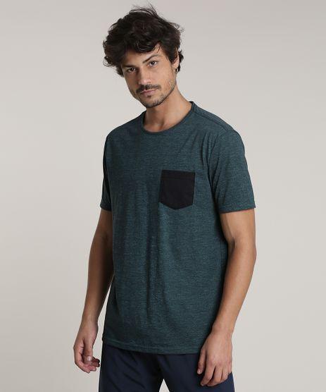 Camiseta-Masculina-Basica-com-Bolso-Manga-Curta-Gola-Careca-Verde-9726263-Verde_1