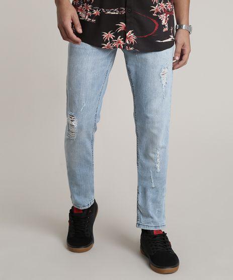 Calca-Jeans-Masculina-Slim-Destroyed-com-Corrente-Azul-Claro-9773895-Azul_Claro_1