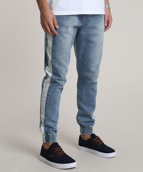 Calca-Jeans-Masculina-Jogger-com-Faixa-Lateral-Azul-Claro-9790547-Azul_Claro_1