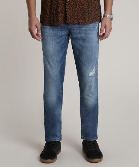 Calca-Jeans-Masculina-Slim-Carrot-com-Bolsos-Azul-Medio-9764306-Azul_Medio_1