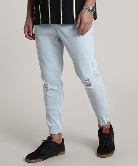 Calca-Jeans-Masculina-Jogger-Slim-com-Rasgos-Azul-Claro-9772190-Azul_Claro_1