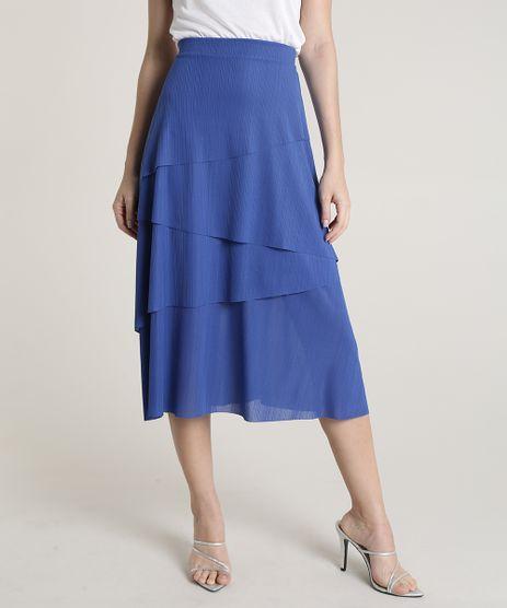 Saia-Feminina-Mindset-Midi-Texturizada-em-Camadas-Assimetricas-Azul-9837420-Azul_1