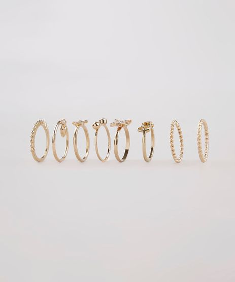 Kit-de-8-Aneis-Femininos-Dourado-9261815-Dourado_1