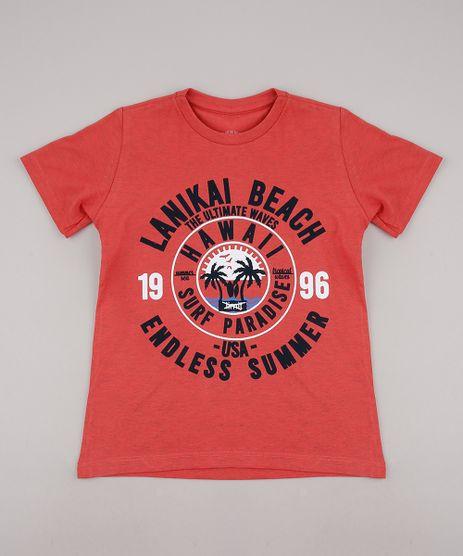 Camiseta-Infantil--Summer--Manga-Curta-Coral-9736747-Coral_1