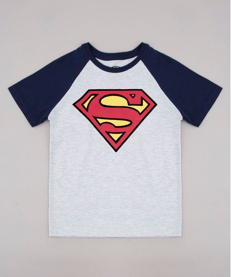 Camiseta-Infantil-Super-Homem-Raglan-Manga-Curta-Cinza-Mescla-Claro-9730711-Cinza_Mescla_Claro_1