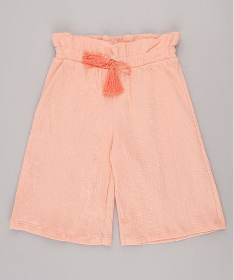 Calca-Infantil-Pantacourt-Texturizada-Coral-9744281-Coral_1