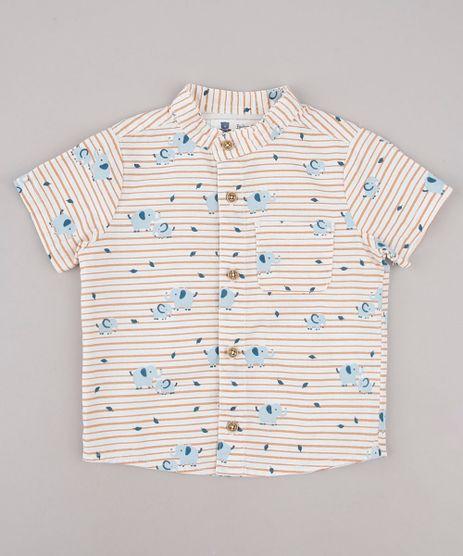 Camisa-Infantil-Listrada-com-Bolso-Manga-Curta-Gola-Padre-Off-White-9748489-Off_White_1