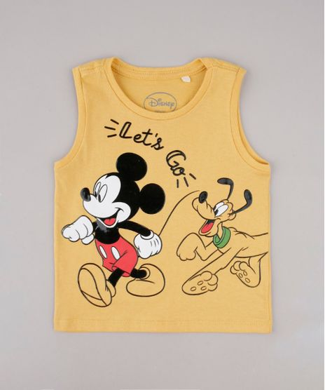 Regata-Infantil-Mickey-e-Pluto-Mostarda-9730369-Mostarda_1