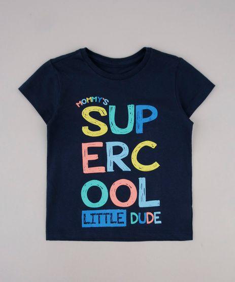 Camiseta-Infantil--Super-Cool--Manga-Curta-Azul-Marinho-9735159-Azul_Marinho_1