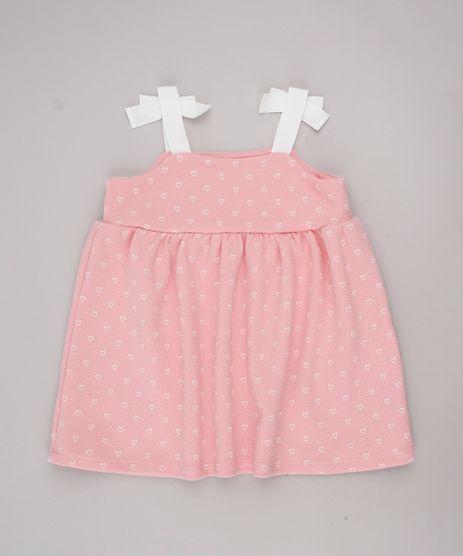 Vestido-Infantil-Estampado-de-Coracoes-com-Laco-Alcas-Finas-Rosa-9664220-Rosa_1