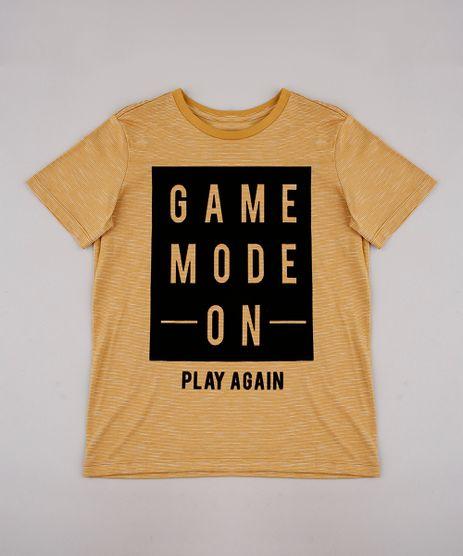 Camiseta-Infantil--Game-Mode-On--Manga-Curta-Mostarda-9768854-Mostarda_1