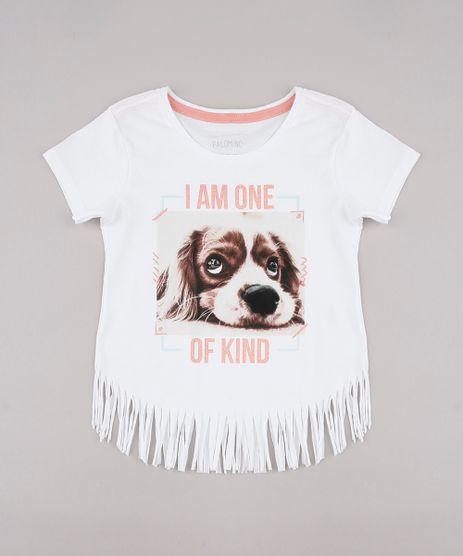 Blusa-Infantil--I-am-One-of-Kind--com-Franjas-Manga-Curta-Off-White-9742317-Off_White_1