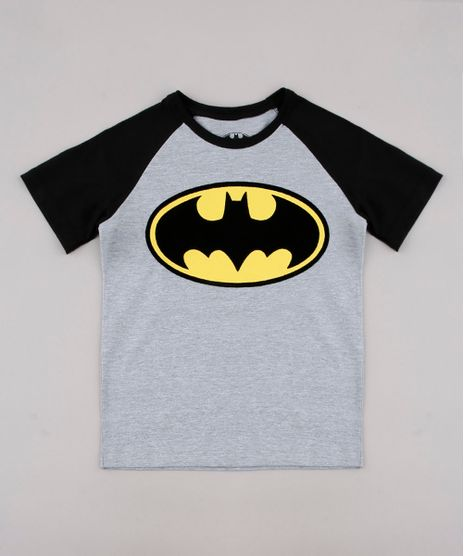Camiseta-Infantil-Batman-Raglan-Manga-Curta-Cinza-Mescla-Claro-9730710-Cinza_Mescla_Claro_1