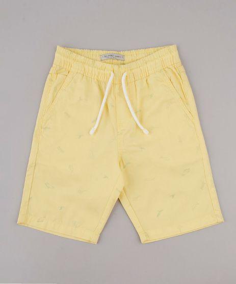 Bermuda-de-Sarja-Infantil-Estampada-Surf-Amarela-9761829-Amarelo_1