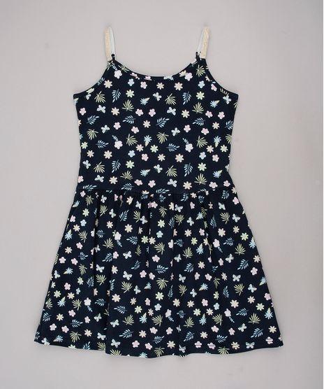 Vestido-Infantil-Estampado-Floral-com-Laise-Alcas-Finas-Azul-Escuro-9763542-Azul_Escuro_1