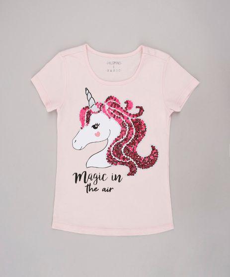 Blusa-Infantil-Unicornio--Magic-in-the-air--Manga-Curta-Rosa-9744606-Rosa_1