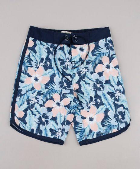 Bermuda-Surf-Infantil-Estampada-Floral-Azul-Escuro-9667433-Azul_Escuro_1