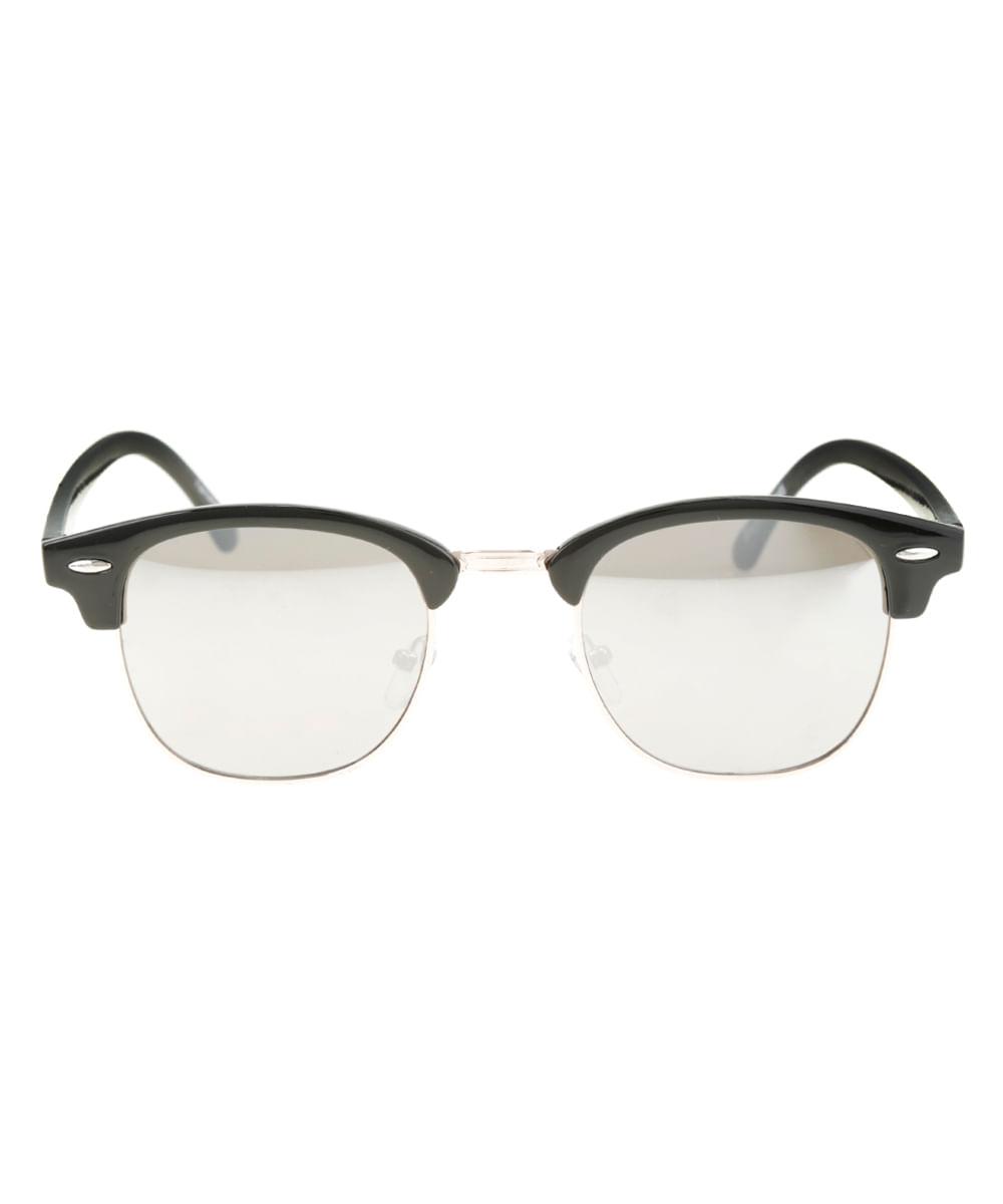 Óculos de Sol Redondo Feminino Oneself Preto - ceacollections db9bfb4254