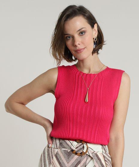 Regata-Feminina-Canelada-em-Trico-Decote-Redondo-Pink-9697828-Pink_1