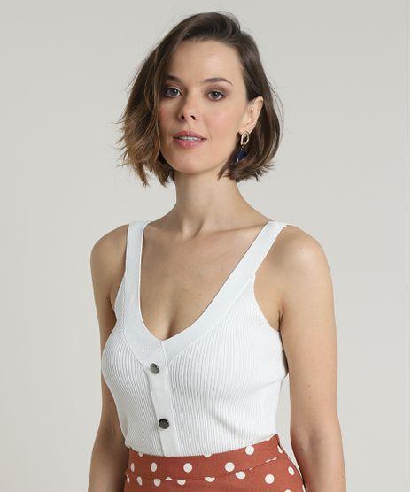 Regata-Feminina-Canelada-em-Trico-com-Botoes-Alca-Larga-Decote-V-Off-White-9656570-Off_White_1