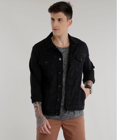 0bcae7fb5 Jaqueta Jeans em Algodão + Sustentável Preta - cea