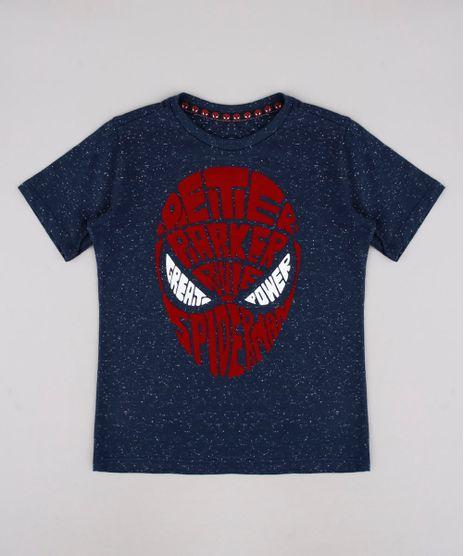 Camiseta-Infantil-Homem-Aranha-Manga-Curta-Azul-Escuro-9736690-Azul_Escuro_1