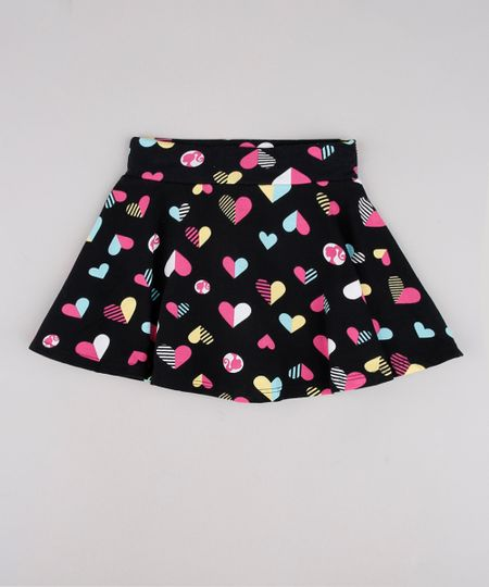 Short-Saia-Infantil-Barbie-Estampado-Preto-9762706-Preto_1