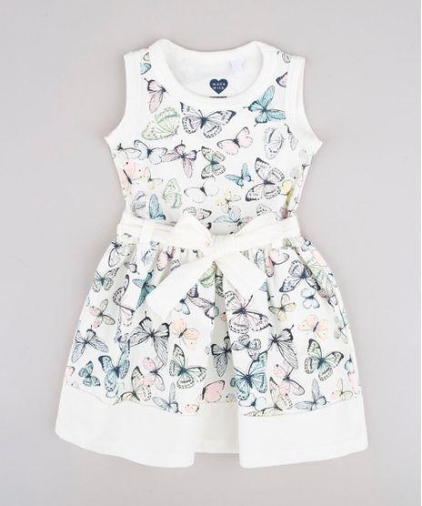 Vestido-Infantil-Estampado-de-Borboletas-com-Laco-Sem-Manga-Off-White-9804477-Off_White_1