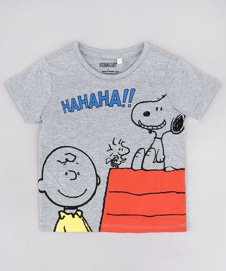 Camiseta-Infantil-Snoopy-Manga-Curta-Cinza-Mescla-9730454-Cinza_Mescla_1