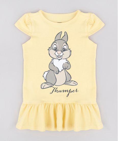 Vestido-Infantil-Tambor-Bambi-com-Babado-Manga-Curta-Amarelo-9742284-Amarelo_1