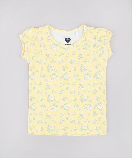 Blusa-Infantil-Estampada-Floral-Manga-Curta-Amarela-9742257-Amarelo_1