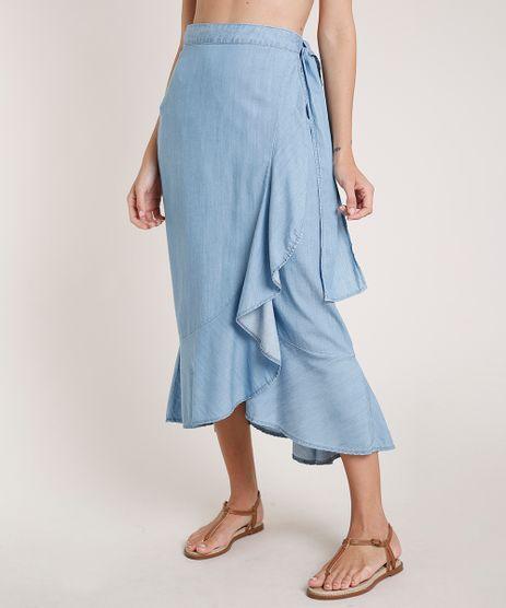 Saia-Jeans-Feminina-Agua-de-Coco-Midi-Envelope-com-Babado-Azul-Claro-9809275-Azul_Claro_1