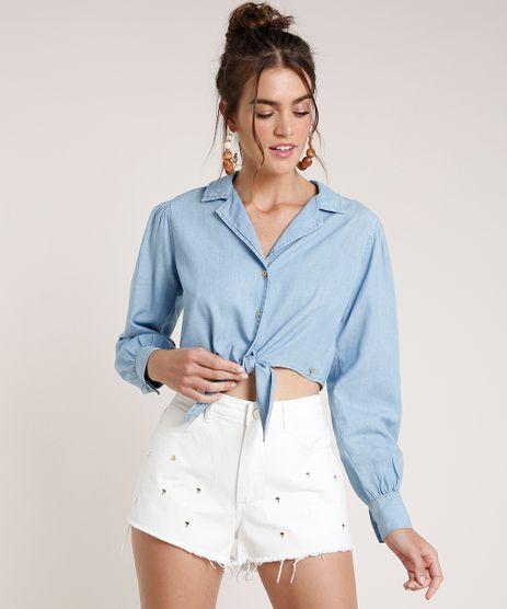 Camisa-Jeans-Feminina-Agua-de-Coco-Cropped-com-No-Manga-Longa-Azul-Claro-9809280-Azul_Claro_1