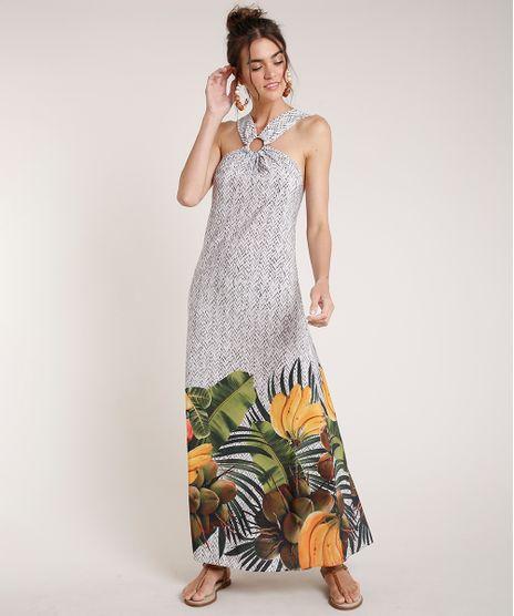 Vestido-Feminino-Agua-de-Coco-Longo-Halter-Neck-Estampado-Cesto-de-Frutas-Off-White-9677879-Off_White_1