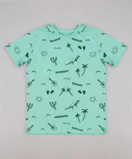 Camiseta-Infantil-Estampada-de-Cactos-e-Dinossauros-Manga-Curta-Verde-Claro-9736749-Verde_Claro_1