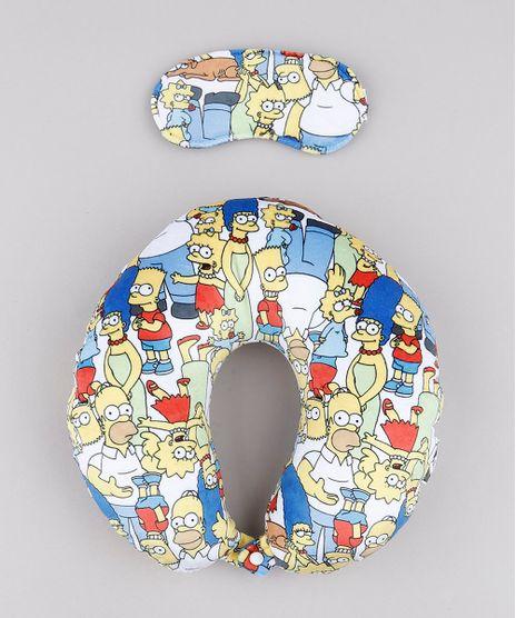 Kit-de-Apoio-de-Pescoco-Os-Simpsons-Estampado---Tapa-Olho-Branco-9758155-Branco_1