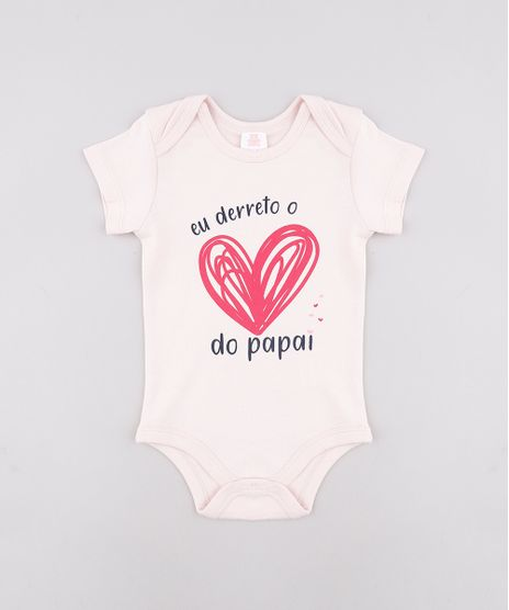 Body-Infantil--Coracao-do-Papai--Manga-Curta-Rosa-Claro-9602184-Rosa_Claro_1