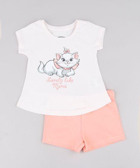 Conjunto-Infantil-Gata-Marie-de-Blusa-Manga-Curta-Rosa-Claro---Short-em-Moletom-Coral-9742269-Coral_1