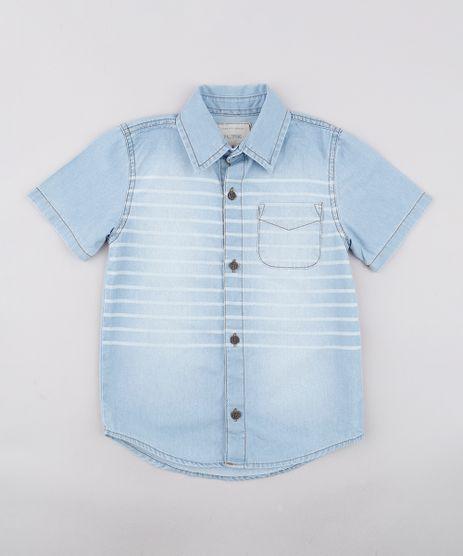 Camisa-Jeans-Infantil-Listrada-com-Bolso-Manga-Curta-Azul-Claro-9761849-Azul_Claro_1