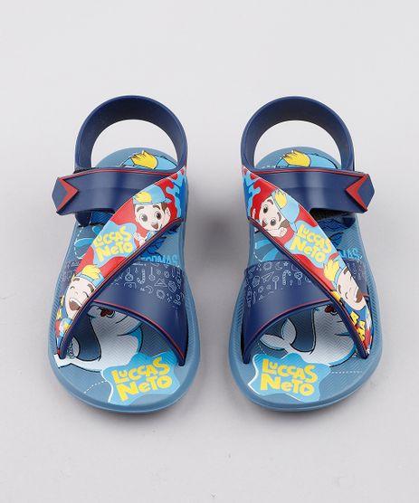 Sandalia-Papete-Infantil-Grendene-Lucas-Neto-com-Tiras-Azul-9829514-Azul_1