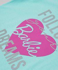 Blusa-Infantil-Barbie--Follow-your-Dreams--com-Franjas-Manga-Curta-Verde-Claro-9757212-Verde_Claro_3