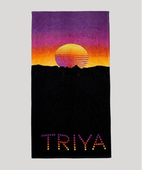 Toalha-de-Praia-Triya-com-Estampa-Sunset-Preta-9704589-Preto_1