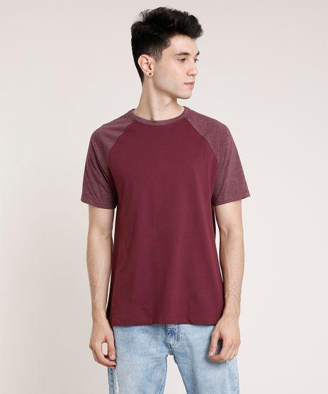 Camiseta-Masculina-Basica-Raglan-Manga-Curta-Gola-Careca-Vinho-9739542-Vinho_1